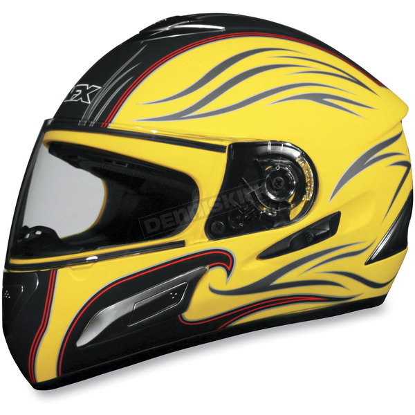 AFX FX-100 Yellow Waves Helmet - 01014542