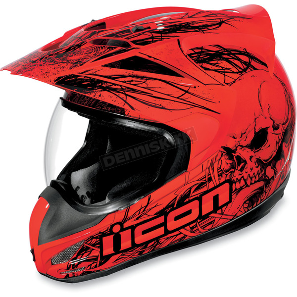 Icon Variant Red Etched Helmet - 01014735