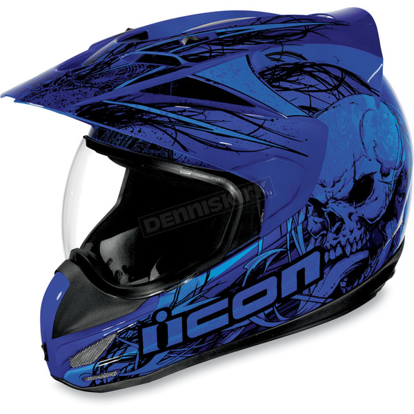 Icon Variant Blue Etched Helmet - 0101-4742