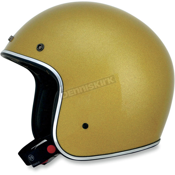 AFX Gold Metal Flake FX-76 Helmet - 0104-1225