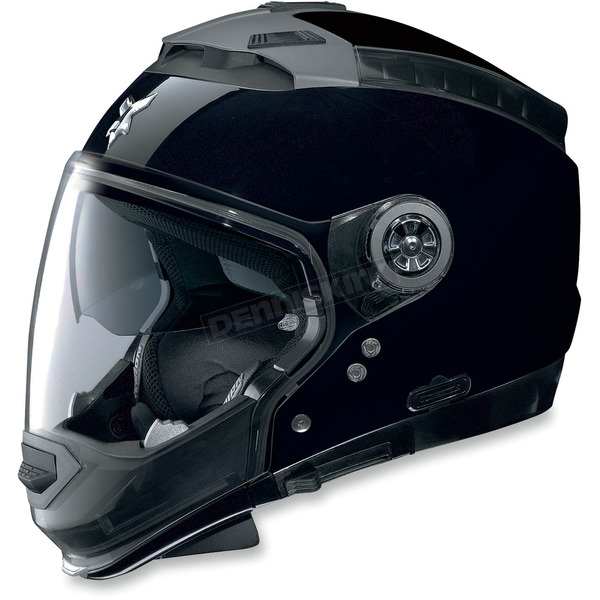 Nolan Metallic Black N44 Trilogy N-Com® Outlaw Helmet - N445270470182