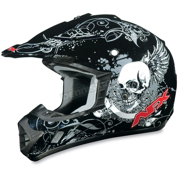 AFX Youth Black FX-17Y Skull Helmet - 01110666