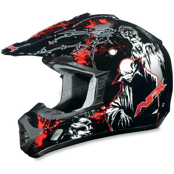 AFX Youth Black Special Edition FX-17Y Zombie Helmet - 01110683