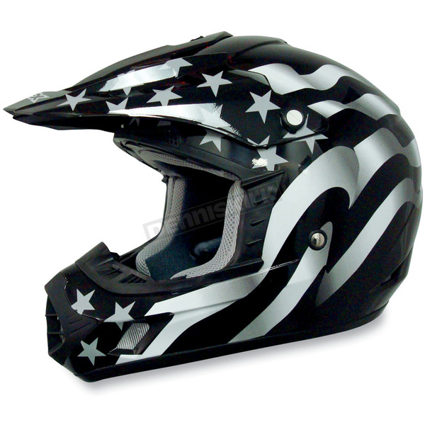 AFX Youth FX-17Y Stealth Flag Helmet - 0111-0694
