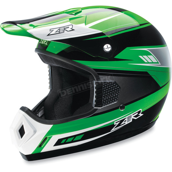 Z1R Youth Green Roost Volt Helmet - 0111-0753