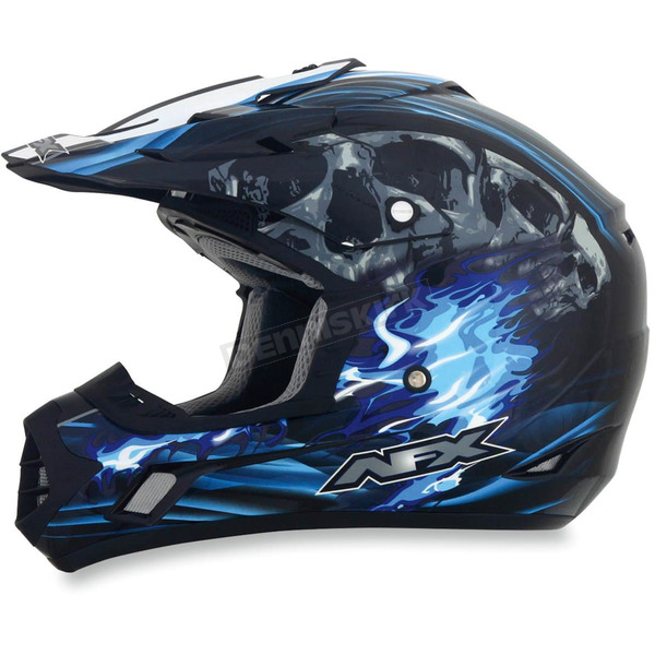 AFX Black/Blue Multi FX-17 Inferno Helmet - 0110-3521