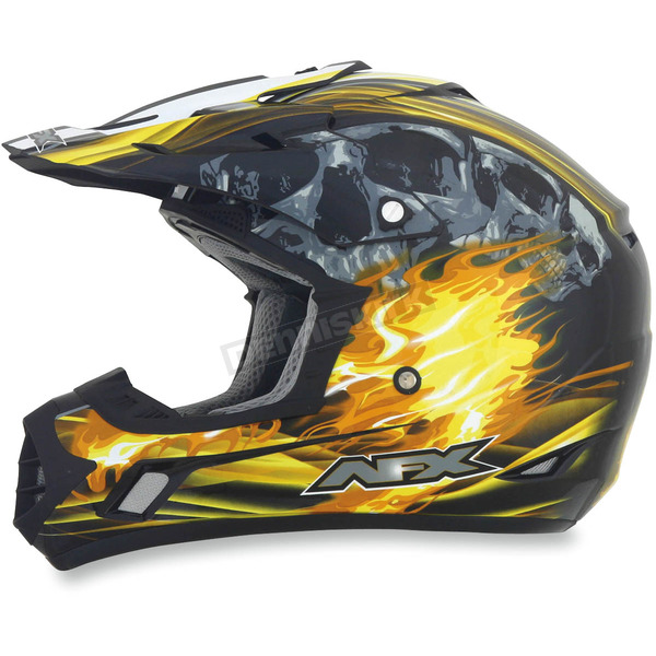 AFX Black/Yellow Multi FX-17 Inferno Helmet - 0110-3544