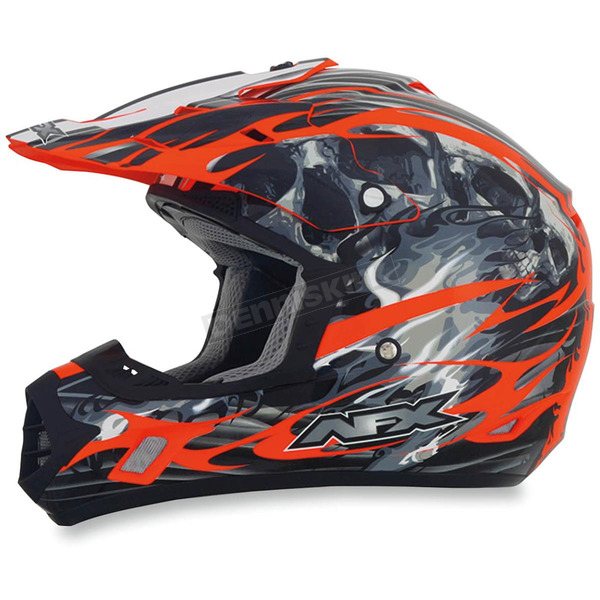 AFX Orange Multi FX-17 Inferno Helmet - 0110-3568