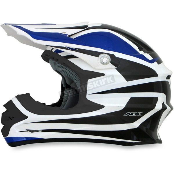 AFX Blue/White FX-21 Alpha Helmet - 0110-4098