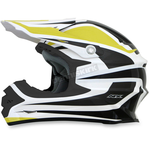 AFX Yellow/White FX-21 Alpha Helmet - 0110-4121