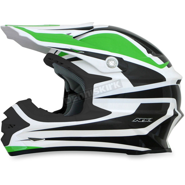 AFX  Green/White FX-21 Alpha Helmet - 0110-4125
