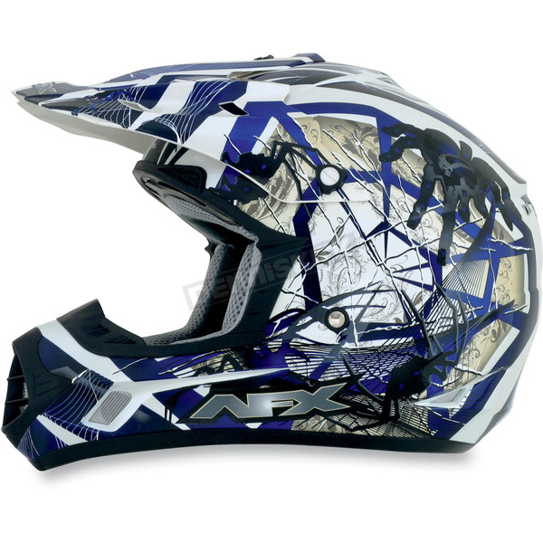 AFX Youth Blue FX-17Y Trap Helmet - 0111-0849