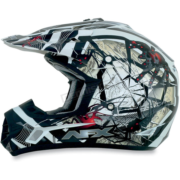 AFX Youth Black/Red FX-17Y Trap Helmet - 0111-0856