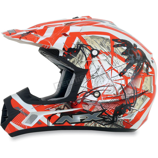 AFX Youth Orange FX-17Y Trap Helmet - 0111-0865