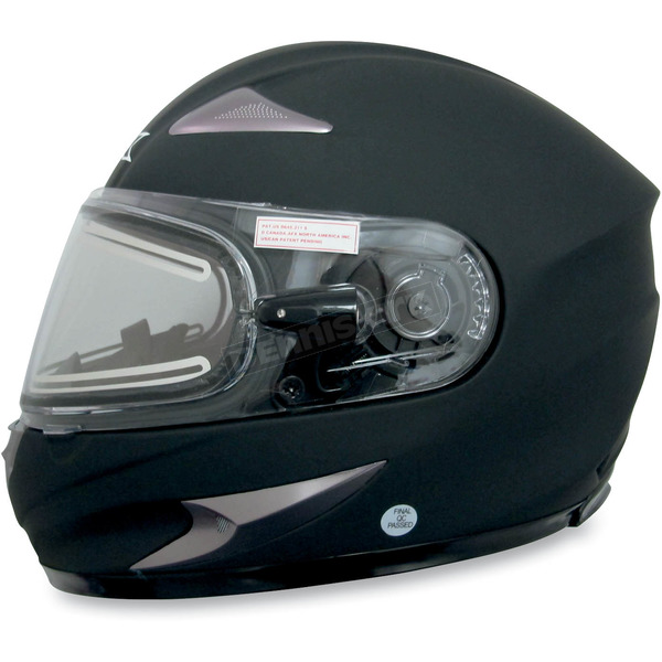 AFX Flat Black FX-90S Snow Helmet w/Electric Dual-Lens Snow Shield - 0121-0502