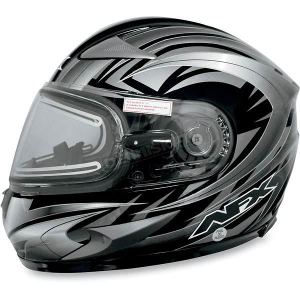 AFX Multi Black FX-90S Snow Helmet w/Electric Dual-Lens Snow Shield - 01210514