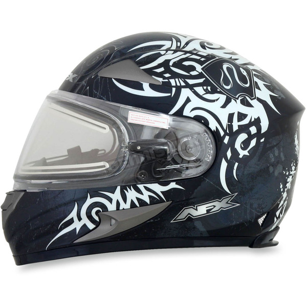AFX Silver FX-90SE Danger Helmet w/Electric Dual Lens Shield - 0121-0549