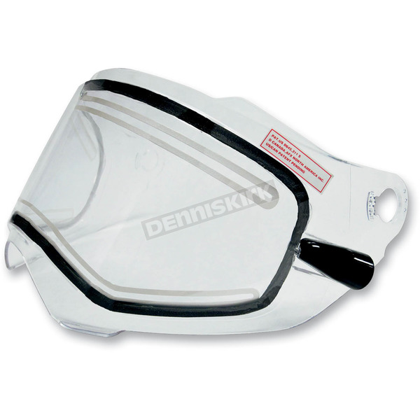 AFX AMPD Clear Electric Dual-Lens Snow Shield w/ Cords for AFX FX-39DS Dual Sport Helmets - 0130-0460