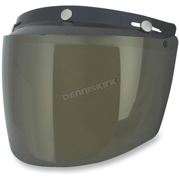 AFX Gold Three-Snap Flip Bubble Shield/Visor - 0131-0081