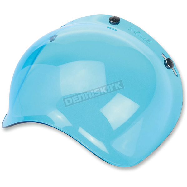 Biltwell Blue 3-Snap Bubble Shield - BV-BLU-00-SD