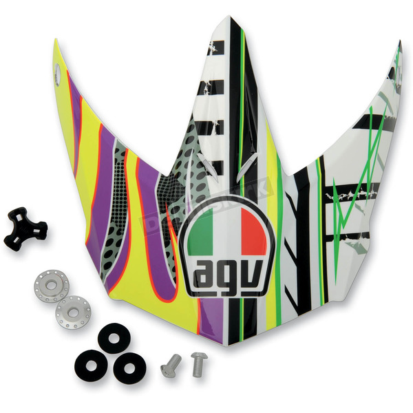 AGV Yellow/Purple EVO AX8 Visor - KIT75002024