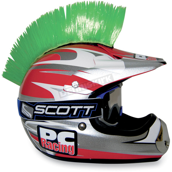 PC Racing Green Helmet Mohawk - PCHMGREEN