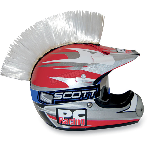 PC Racing White Helmet Mohawk - PCHMWHITE