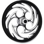 Black 21 x 3.5 Savage Eclipse One-Piece Wheel for Dual Disc   - 21350-9917-85E