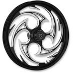 Black/Chrome 17 x 6.25 Savage Eclipse Rear Wheel (ABS models) - 17625-9052-85E