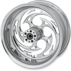 Rear Chrome 17 x 6.25 Savage One-Piece Wheel for OEM Pulley - 17625-9210A-85C