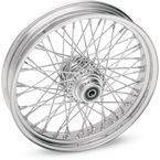 Chrome 19 x 2.15 60-Spoke Laced Wheel Assembly for Single or Dual Disc - 02030082