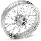 Chrome 19 x 2.15 40-Spoke Laced Wheel Assembly for Single or Dual Disc - 02030081