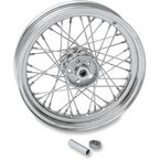 Chrome Front/Rear 16 x 3 40-Spoke Laced Wheel Assembly  - 0203-0420
