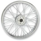 Front Chrome 21x2.15 40-Spoke Laced Wheel Assembly - 0203-0532