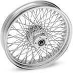Chrome 21 x 2.15 80-Spoke Laced Wheel Assembly for Single Disc - 02030040