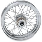 Chrome Rear 16 x 3 40-Spoke Laced Wheel Assembly  - 0204-0370