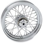 Chrome Rear 16 x 3 40-Spoke Laced Wheel Assembly  - 0204-0374