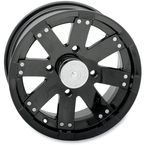 14 in. Black Buck Shot Wheel - 158PU147110GB4