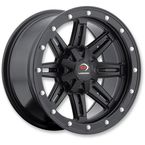 Matte Black Five-Fifty - 550 12X8 Wheel - 550-128156MB4