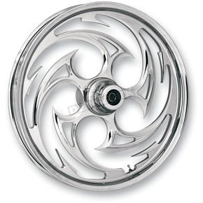 Chrome 21 x 3.5 Savage One-Piece Wheel for Dual Disc w/ABS - 21350-9031A-85C