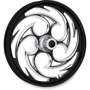 Black 21 x 3.5 Savage Eclipse One-Piece Wheel for Dual Disc  Models w/o ABS - 21350-9031-85E