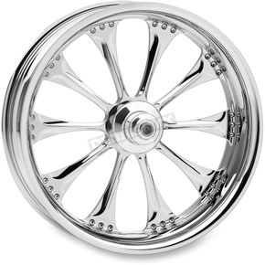 Performance Machine Chrome 18 x 8.5 Custom Hooligan Wheel for 3/4 in. Axle and 240mm Wide Tire/Wide Drive Performance Machine Phatail Swingarm Kit - 1274-7825R-HOOR