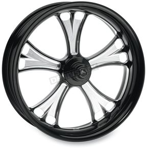 Performance Machine Black 18 x 8.5 Custom Gasser Contrast Cut Wheel for 3/4 in. Axle and 240mm Wide Tire/Wide Drive Performance Machine Phatail Swingarm Kit - 12747825RGAS