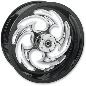 RC Components Rear Black 18 x 10.5 Eclipse Savage Inboard Brake Wheel for 300 Kit - 18105-9381-85E