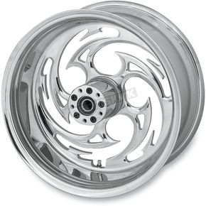 RC Components Rear Chrome 18 x 10.5 Savage Inboard Brake Wheel for 300 Kit - 18105-9381-85C