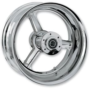 RC Components Rear Chrome 18 x 8.5 240 Stocker One-Piece Forged Wheel - 188509350STKC