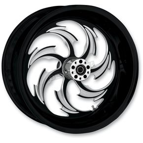 RC Components Rear Chrome 17 x 6.25 Assault Eclipse One-Piece Forged Wheel - 181051-9353-95E