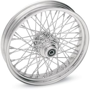 Drag Specialties Chrome 19 x 2.15 60-Spoke Laced Wheel Assembly for Single or Dual Disc - 0203-0082