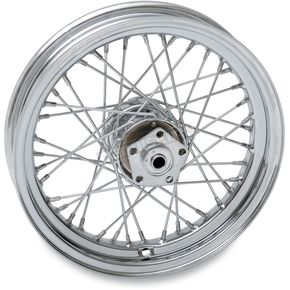Chrome Front/Rear 16 x 3 40-Spoke Laced Wheel Assembly - 0203-0421