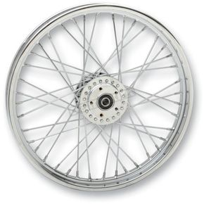 Drag Specialties Front Chrome 21x2.15 40-Spoke Laced Wheel Assembly - 0203-0532